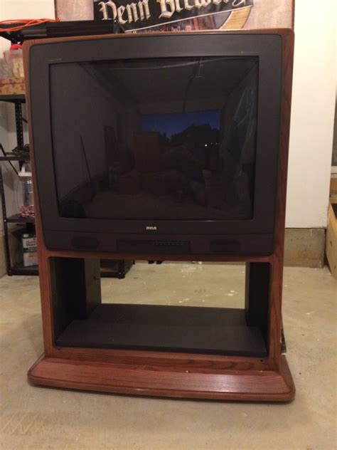 letgo 35 inch rca television in oak cabinet in tatamy pa