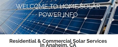 home solar panels information home solar power info