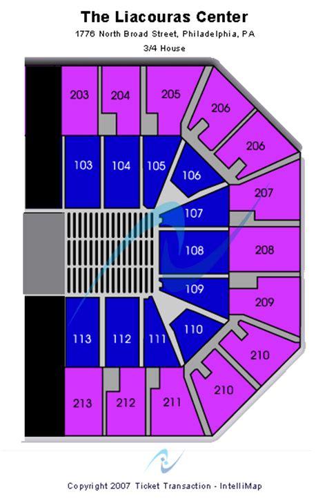 liacouras center seating chart