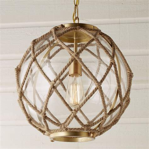 Jute Rope Globe Pendant   Shades of Light