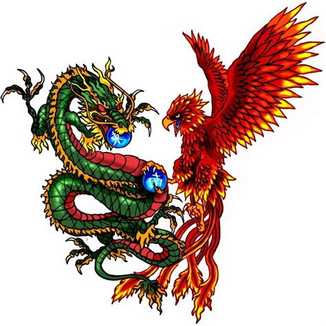 phoenix and dragon tattoo tattoo fantastic