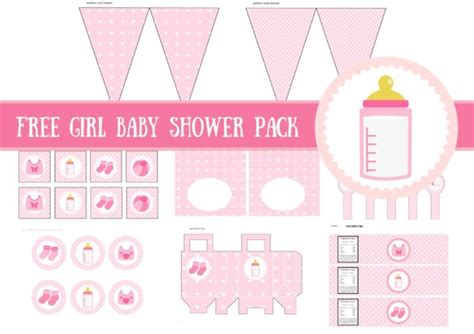 free printables for baby shower girl free baby girl baby shower printable package baby shower