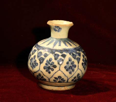 Blue Pottery Vase by A Blue White Pottery Vase