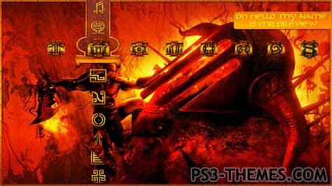 god of war 3 windows theme sounds icons cursors ps3 themes 187 10 000 ps3 themes