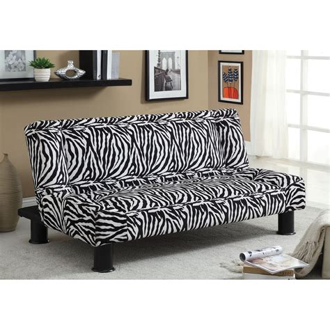Zebra Print Futon by Furniture Of America Kirk Fabric Convertible Futon Zebra