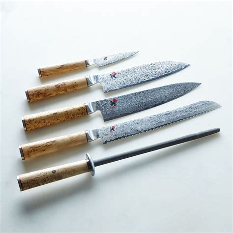 The Best Kitchen Knives Set miyabi birchwood damascus knife collection on food52