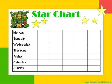 printable behaviour star chart 10 best images of star chart templates for kids free