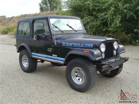1981 jeep renegade 1981 jeep cj7 renegade 6cyl t18 4spd 300 t 3
