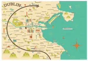 dublin map amazing illustrated maps of dublin wanderarti