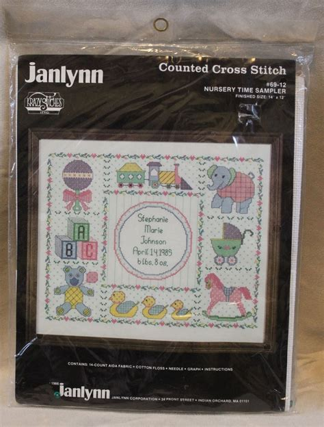 Birth Times Records Janlynn Counted Cross Stitch Nursery Time Sler Baby Birth Record New Kits