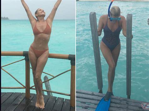 yolanda hadid shares a sexy bathing suit photo on vacation yolanda foster give me one bora bora hold the lyme
