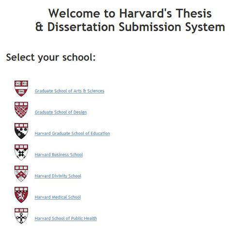 harvard thesis dissertation school