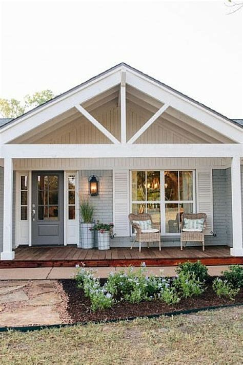 modern country style the miracle of changing the exterior beach house with fixer upper style dream home