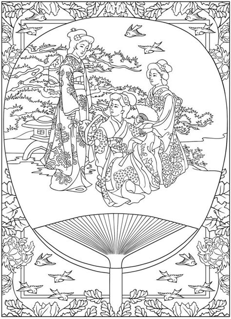 anti stress coloring book japan free coloring page coloring in japan tradition