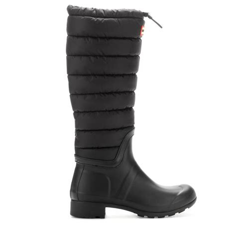 original quilted boots in black lyst