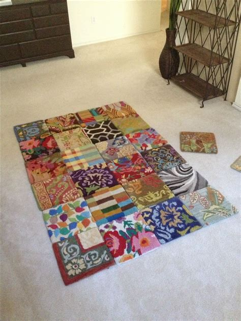 Make Area Rug 4x6 Area Rug Using Discontinued Carpet Sles A Duct Will Do Ya I Make