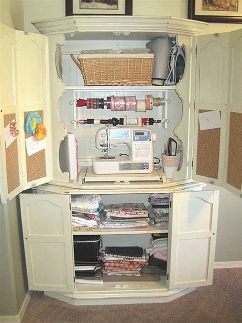 Sewing Armoire Cabinet by Sewing Armoire Creative Space Work Space