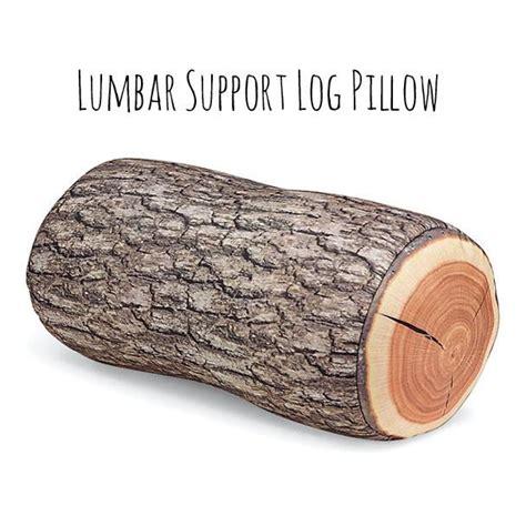Lumbar Support Roll Pillow tree log pillow lumbar back support rest travel pillow pillow annasee