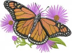 Monarch Design Monarch Butterfly Embroidery Design Bugs Embroidery
