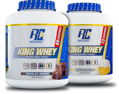 ronnie coleman signature series king whey at bodybuilding