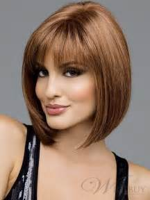 hairstyles medium length with wispy fringe and slightly curly shoulder length bob with bangs the sporty straight