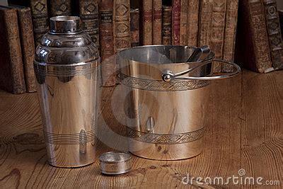silver dream factory standing sets vintage silver cocktail shaker set stock images image