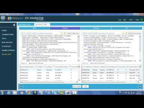 Sle Etl Test Cases by Etl Testing Test For Comparing Data Profiles