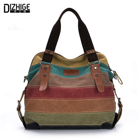 aliexpress buy canvas bag tote striped