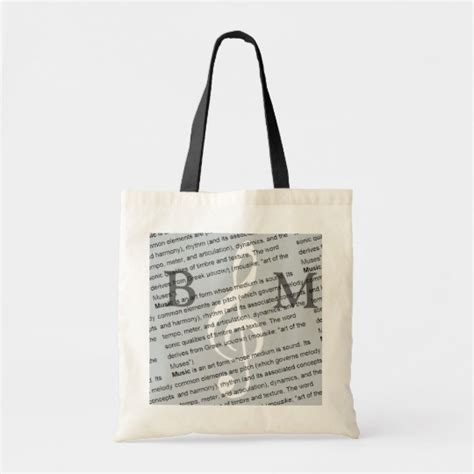 personalized  clef  definition   tote bag