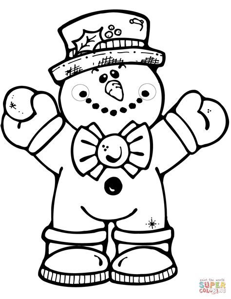 snowman coloring page hugging snowman coloring page free printable coloring pages