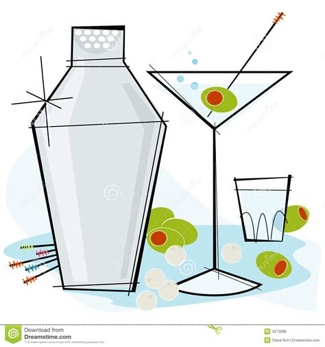 martini olives clipart retro style martini royalty free stock photos image 4273088