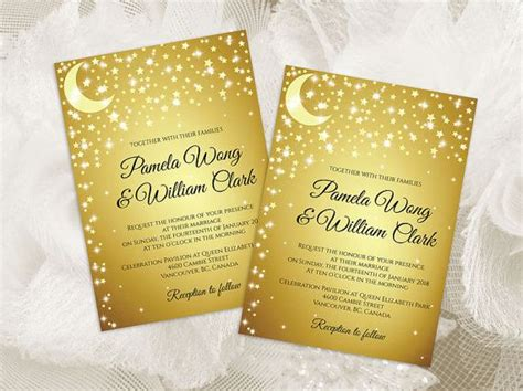 moon invitation card template best 25 wedding invitation card template ideas on