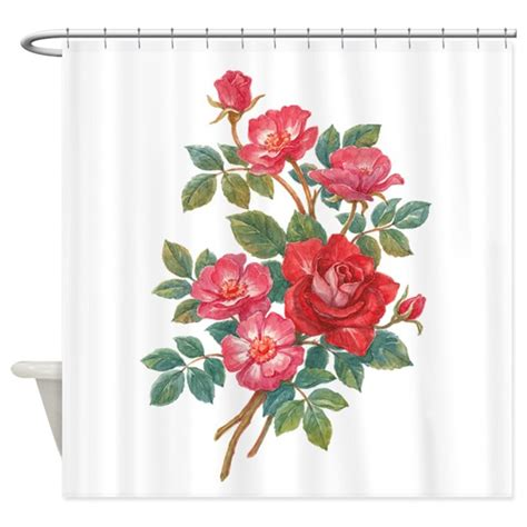 red rose curtains romantic red roses shower curtain by birdsandflowers