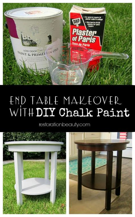 diy chalk paint no sanding end table makeover and no sanding on