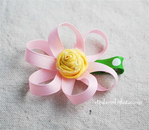 Handmade Ribbon Flower Tutorial - loopy ribbon flower tutorial 027 creations by kara