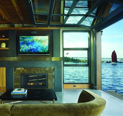 houseboat with garage houseboat living room things space inspired me
