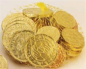chanukah gelt chocolate coins of high adventure legend magazine