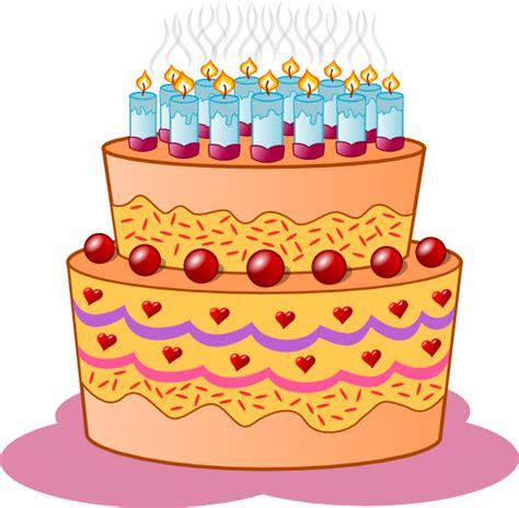 clipart compleanno birthday cake clip at clker vector clip