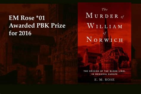 the murder of william of norwich the origins of the blood libel in europe books graduate department of history