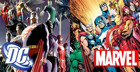 film marvel dan dc dc comics vs marvel mouv