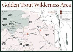 california wilderness areas map sherpa guides california nevada golden trout
