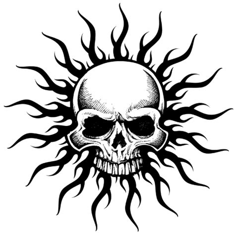 tribal skull tattoos high quality photos and flash