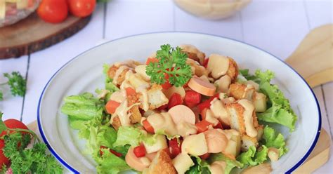 cara membuat salad buah yang simpel recipe chicken nugget salad with peanut butter sauce