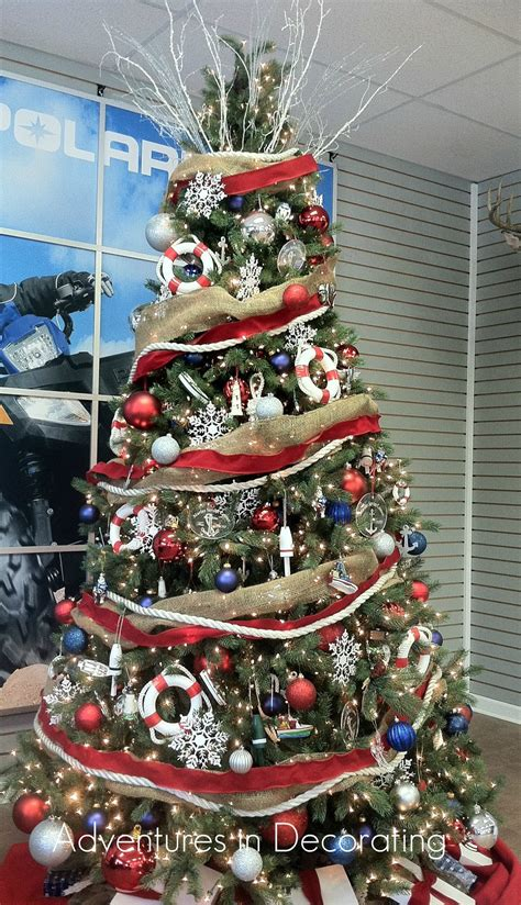 adventures in decorating nautical christmas tree