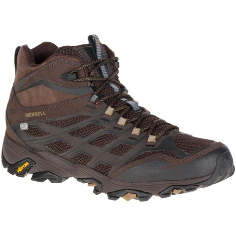 merrell mens hiking boots merrell s moab fst mid waterproof hiking boots