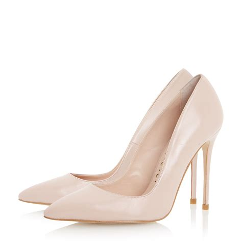 blush high heels dune allegra pointed high heel court shoes in pink blush