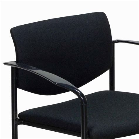 steelcase player used stack chair black national office