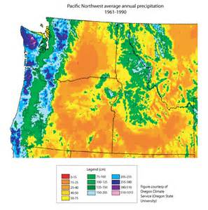 oregon rainfall map learn climate impacts