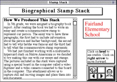 biography book for 5th graders biography book report hypercard stacks