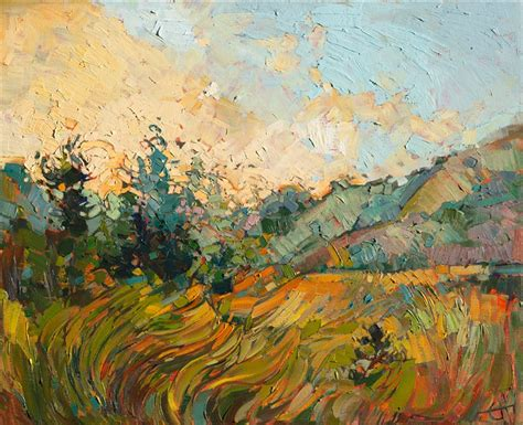 painting the modern garden 1910350028 waves of gold contemporary impressionism art gallery in san diego modern landscape oil